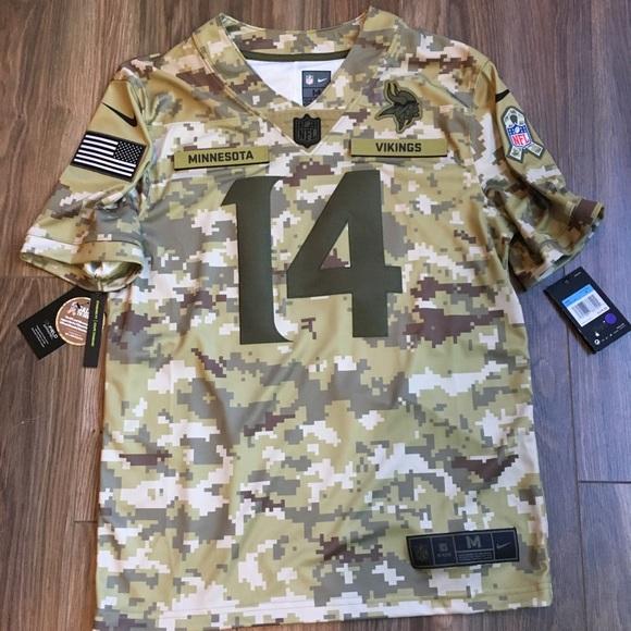 sports shoes ea7c2 1000f Minnesota Vikings Military NFL Stefon Diggs Jersey NWT